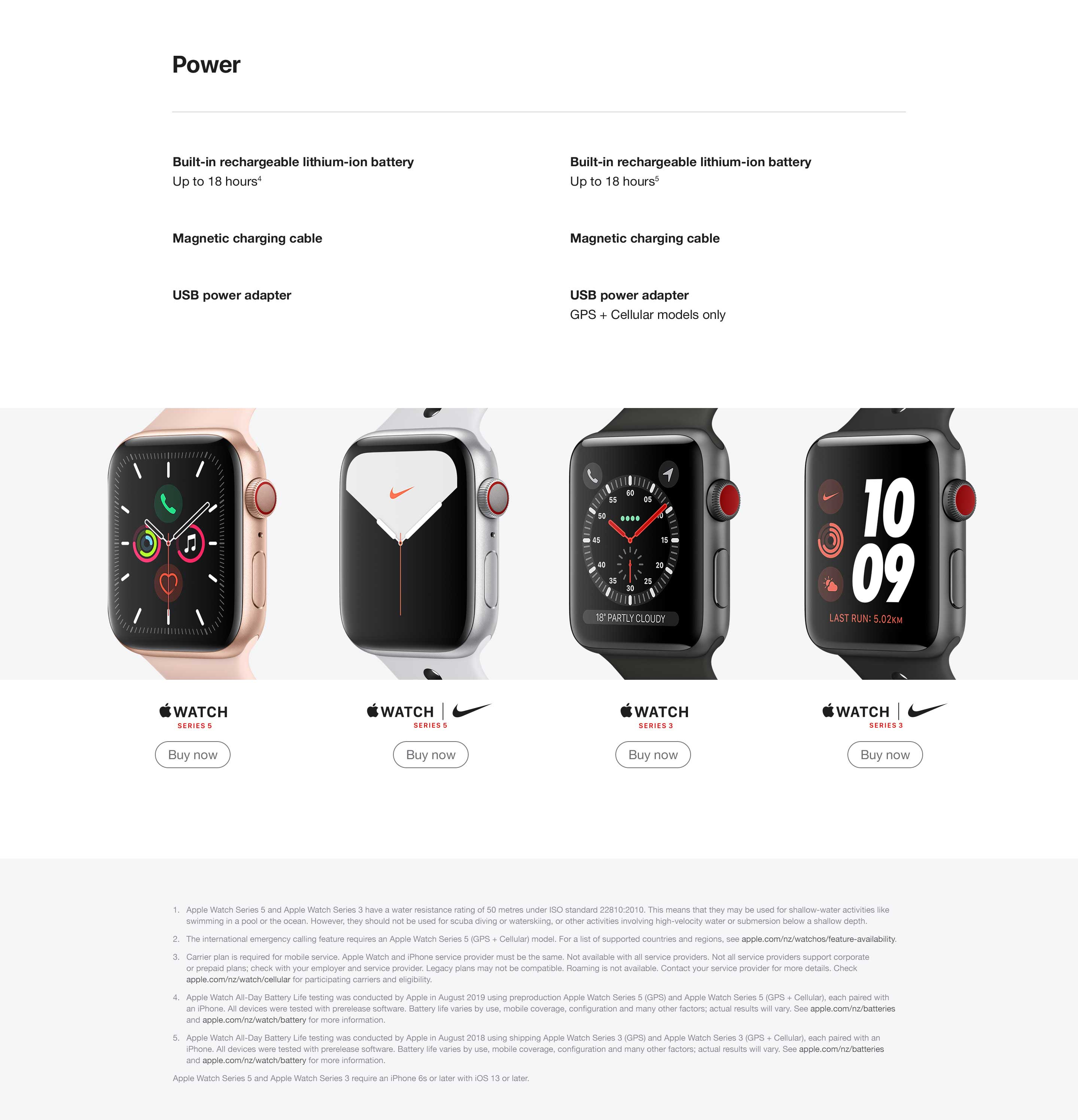 Apple Watch Compare